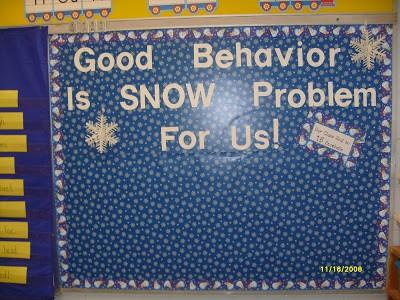 January Behavior Board