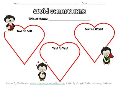 Preview Freebie! Valentine's Themed Graphic Organizers