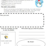Winter Math Story Problem FREEBIE!