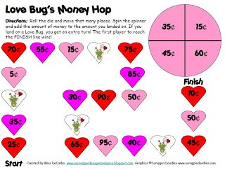 A Valentine's Math Game *Freebie* & My Latest Teacher Diagnosis
