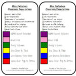 Classroom Expectations, Poster, and Behavior Clip Chart Magnets