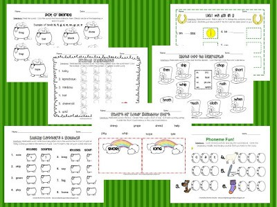 Sneak Peek Freebie & St. Patrick's Day Word Work Pack