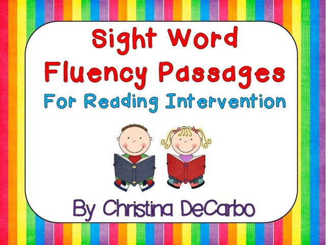 Sight Word Fluency Passages For Reading Intervention - Miss DeCarbo