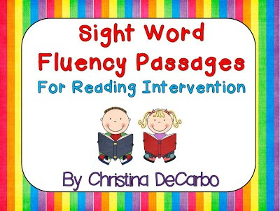 Sight Word Fluency Passages Updated! (& Mini Giveaway!)