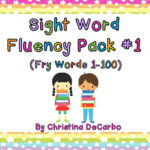 Fluency Builders Pack #1: A New Tool For Fluency Success!