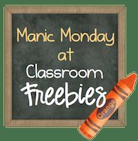 Classroom Freebies Manic Monday