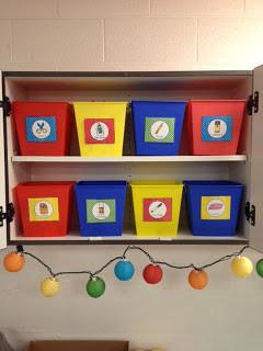 School Supply Organization & Freebie Labels!