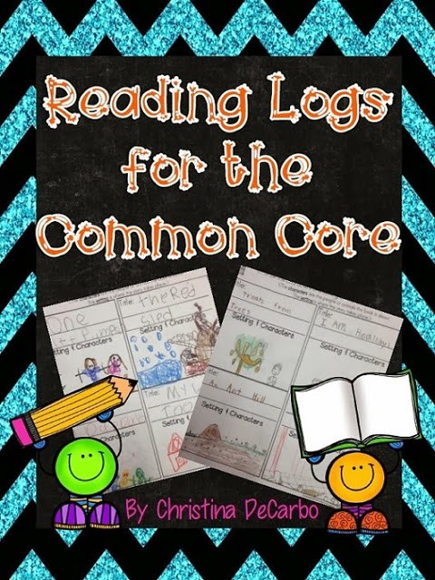Reading Logs for the Common Core (with freebie!)