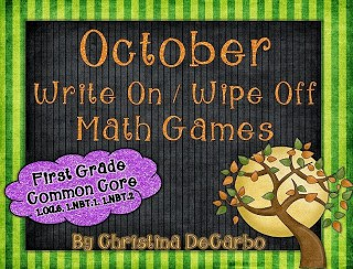 October Math Games for Common Core