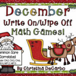 December Write On/Wipe Off Math Games!