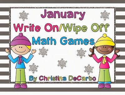 January Write On/Wipe Off Math Games