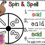 Spin & Spell Christmas: Word Work Freebie!