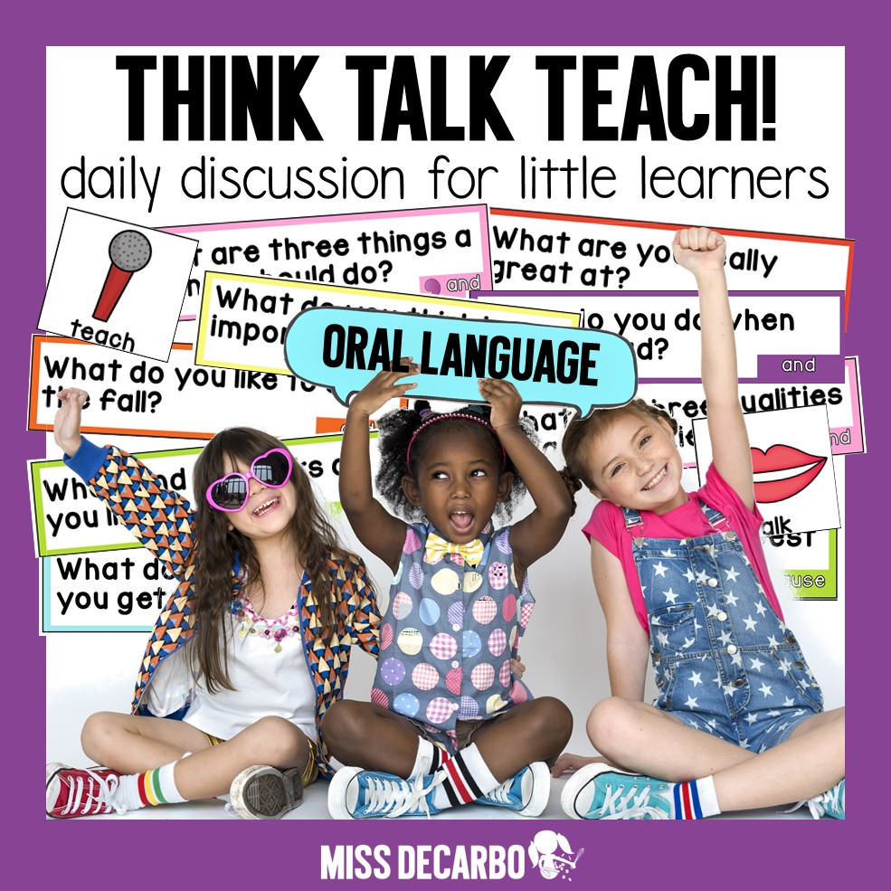 Think Talk Teach Oral Language Resource for the Classroom