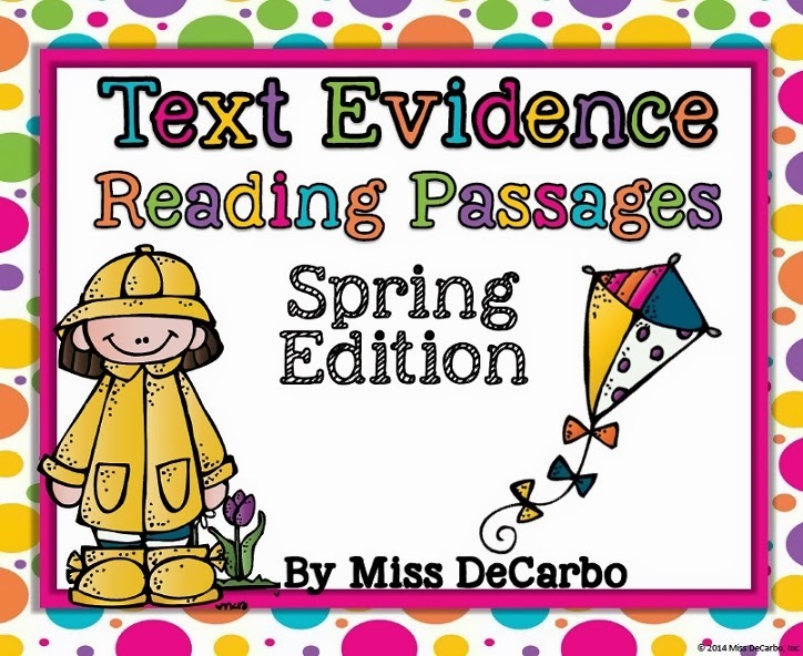 Text Evidence Passages {SPRING Edition}!