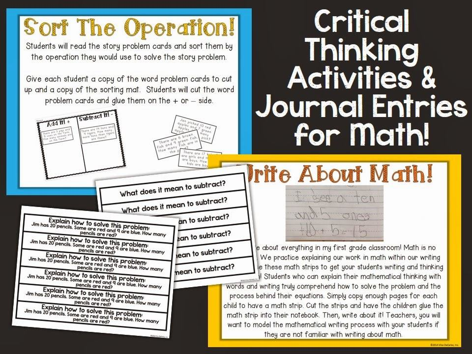 Math critical thinking worksheets for kids – Critical Thinking Math Worksheets