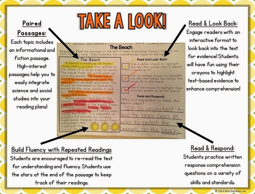 2nd Grade main idea and details worksheets 2nd grade : SUMMER Text Evidence Reading Passages with a Freebie! - Miss DeCarbo