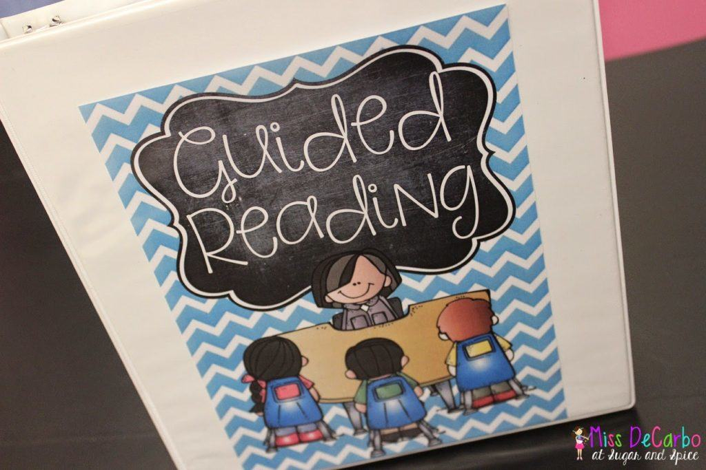 A glance into my guided reading binder miss decarbo for Reading binder cover