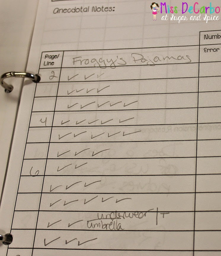 A Glance Into My Guided Reading Binder