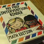 An Inside Tour of my No Prep MATH Intervention Binder!