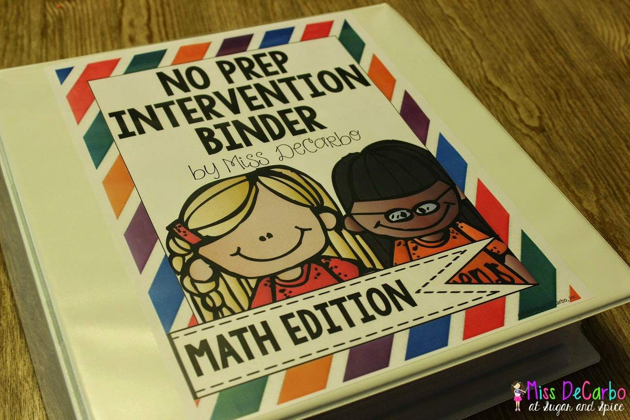 An Inside Tour of my No Prep MATH Intervention Binder!