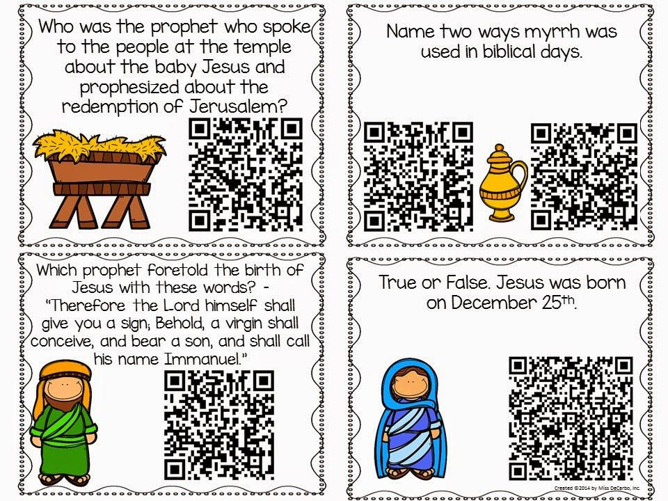 Christmas Bible Trivia Game with QR Codes FREEBIE! :)