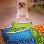 Type and Write Laptop Word Work Freebie!