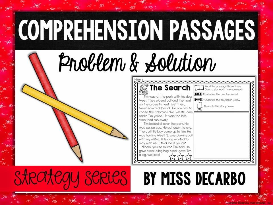 Problem Solution Strategy Series Miss Decarbo
