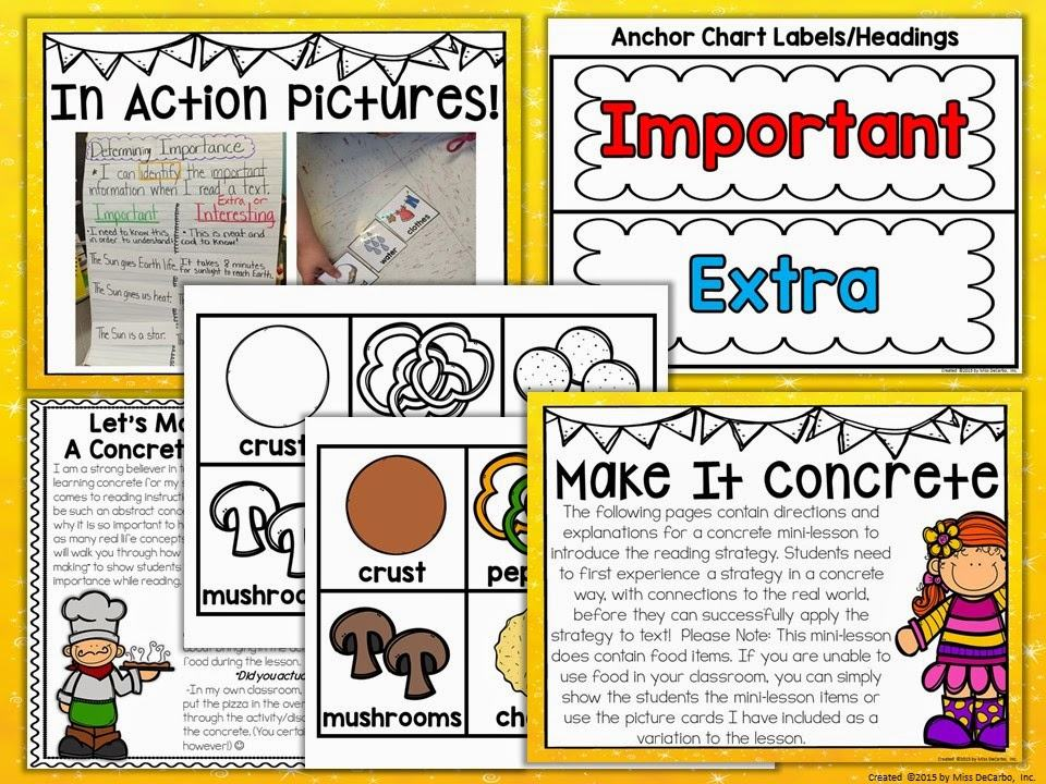 Tons of ideas, activities, lesson plans, and resources for teaching students how to determine importance while they read. Determining importance is such a critical part of reading comprehension. Learn how to make it FUN for your students!