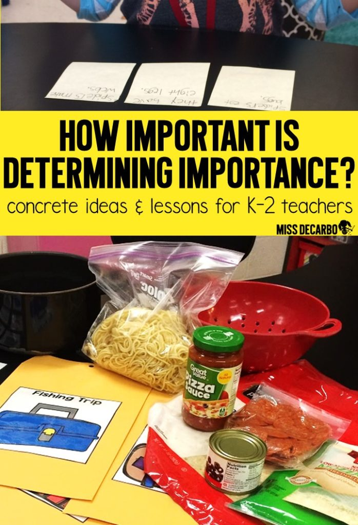 A blog post of lesson ideas, concrete activities, visuals, and resources for teaching students how to determine importance when reading. Determining Importance is such an important reading strategy for young readers. Learn how to make it FUN for your students!