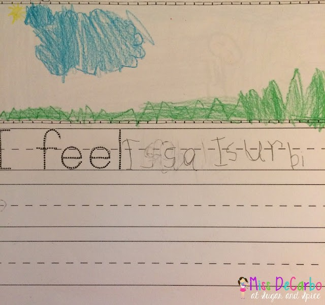 I Feel…Writing Assessment – First and Last Day!