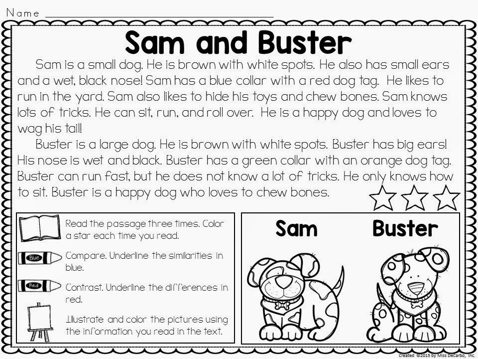 Compare and Contrast Freebie And a SALE Miss DeCarbo – Compare and Contrast Worksheet