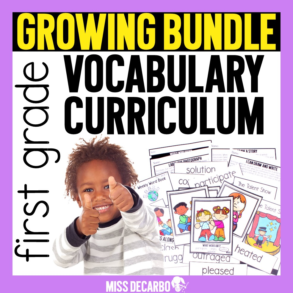 A year-long vocabulary curriculum for K-2 students!
