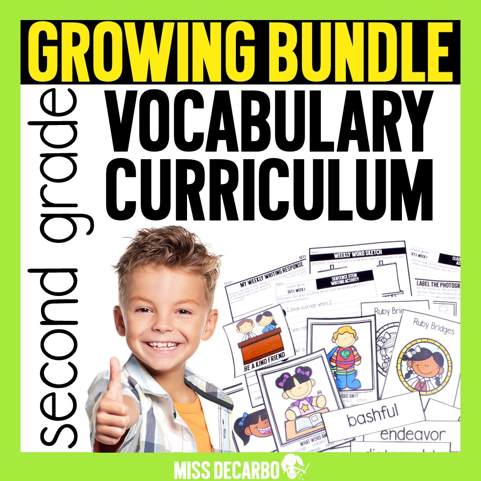 A year-long vocabulary curriculum for your K-2 students!