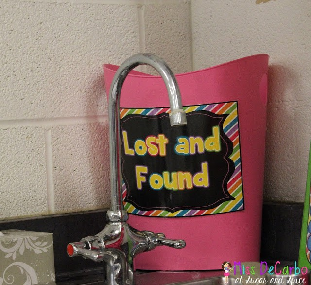Storage and Organization Success: Lost and Found Trash Can