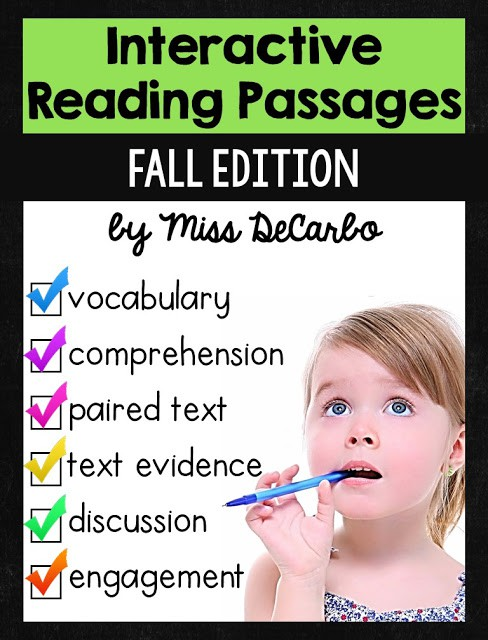 Fall Interactive Reading Passages for Your INB!