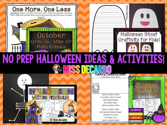 Halloween Ideas, Activities, and a FREEBIE!