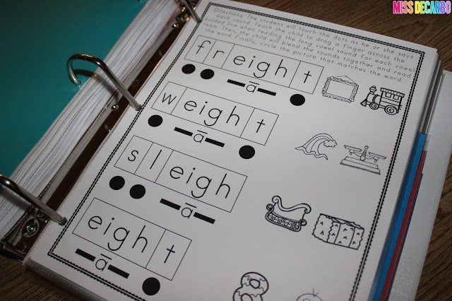 """other"" long vowel intervention printables - No Prep Reading Intervention Binder ELA Edition 2: Packed with phonics and fluency activities, ideas, resources, printables, and word lists for small groups, RTI, one on one intervention and instruction, and literacy groups. Great for teachers, volunteers, and intervention specialists. Tons of reading intervention ideas and strategies by Miss DeCarbo!"