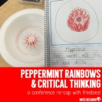 Peppermint Rainbow Science Experiment