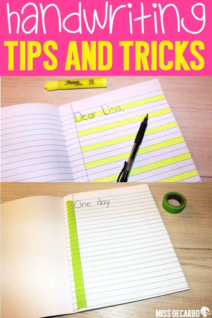 Handwriting tips and tricks for teachers to use with students who struggle with alignment, spacing, pencil grip, formation, and spatial awareness.