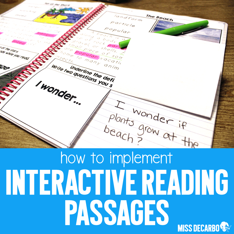 - How To Implement Interactive Reading Passages - Miss DeCarbo