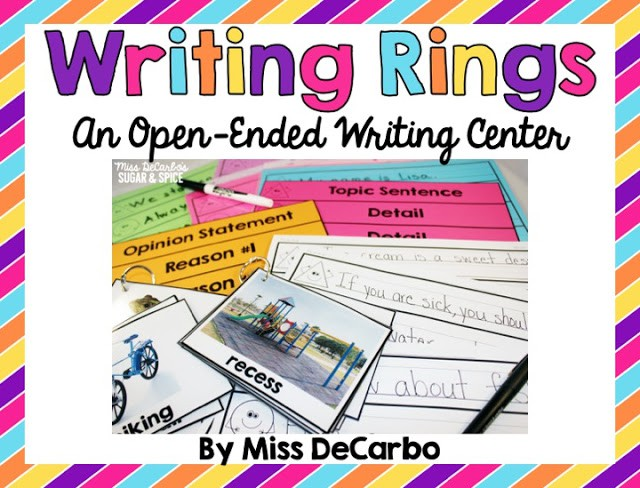 Writing Rings Writing Center: Open-Ended Writing Fun!