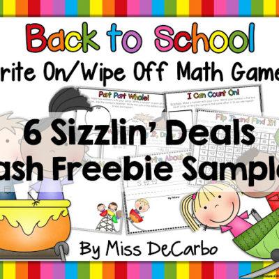 Math Games Freebie Sampler