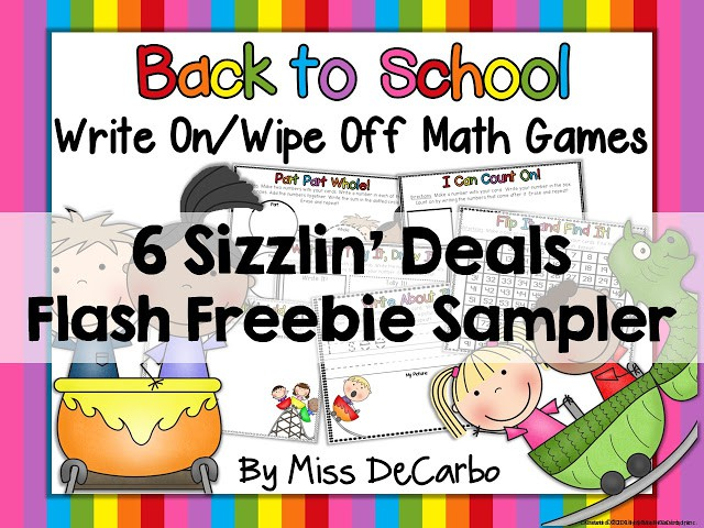 Independent Math Games FREEBIE Sample Pack by Miss DeCarbo