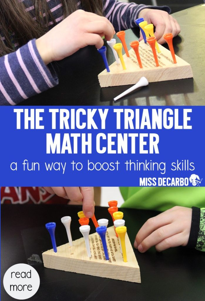 Find out why using The Tricky Triangle Game can boost thinking skills and problem solving skills in your students! An easy and engaging learning center!
