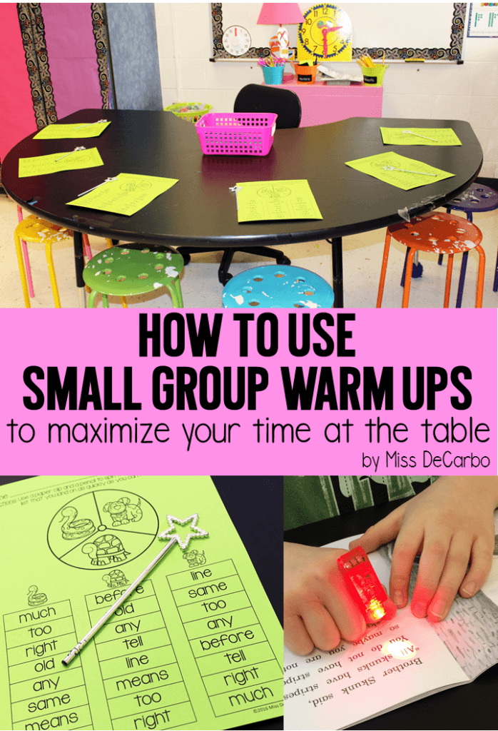 Classroom Warm Up Ideas : Small group warm ups to maximize time at the table miss