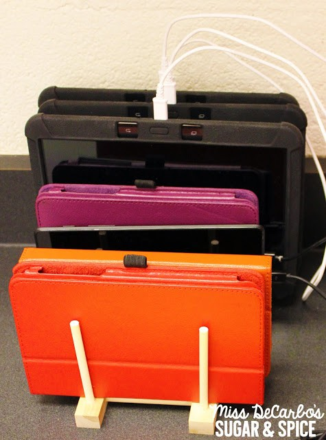 5 Teacher Tips for Technology Organization by Miss DeCarbo: Tablet Storage Idea