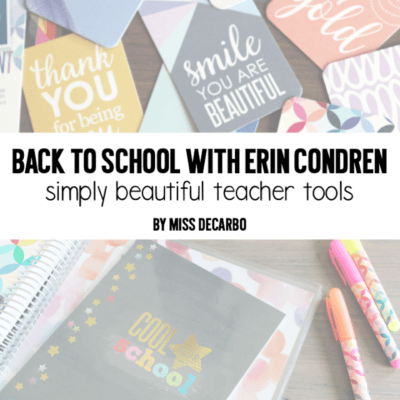 Back to School With Erin Condren: Simply Beautiful Teacher Tools