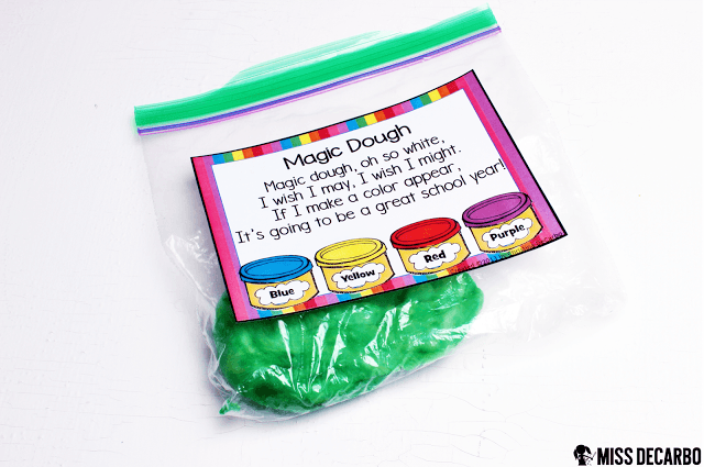 Magic Dough activity and science lesson: This post contains a BIG collection of fun and engaging activities, lessons, and ideas for the first week of school! - by Miss DeCarbo