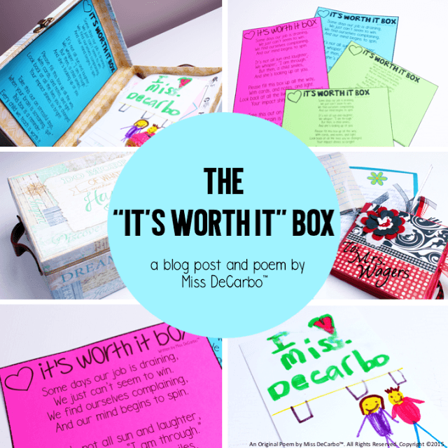 It's Worth It Box! Free Poem Printable