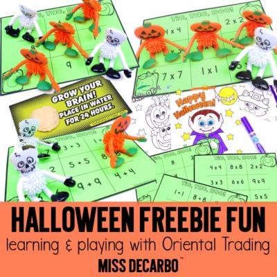 Halloween Freebie Fun: Learning with Oriental Trading